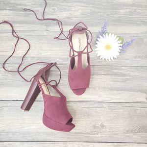 Shoe Dazzle Marlena Chunky Ankle Tie Platforms